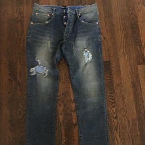 Men's Purple Brand Dark Indigo Jeans sz 34
